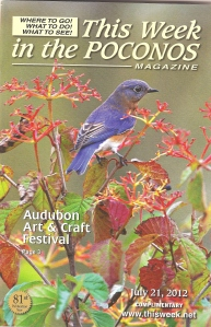 "My image titled ""Blue Bird"" on cover"